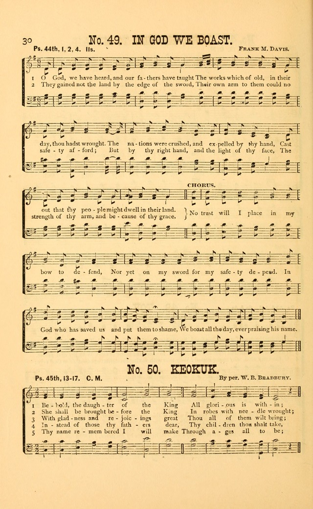Bible Songs: consisting of selections from the psalms, set to music, suitable for Sabbath Schools, Prayer Meetings, etc. page 30