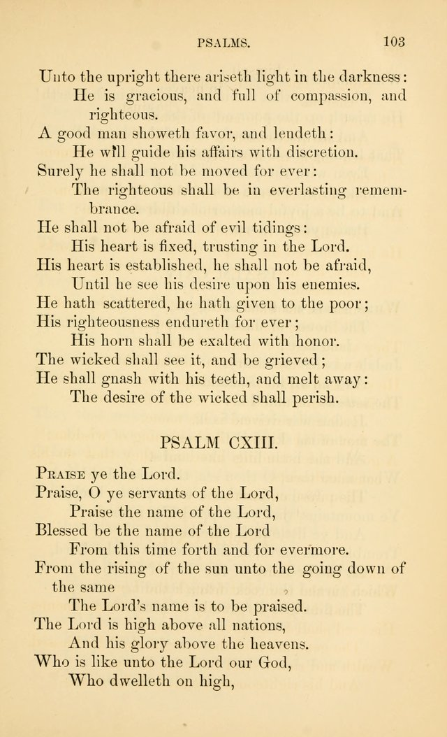 Book of vespers: an order of evening worship ; with select Psalms and hymns. page 110