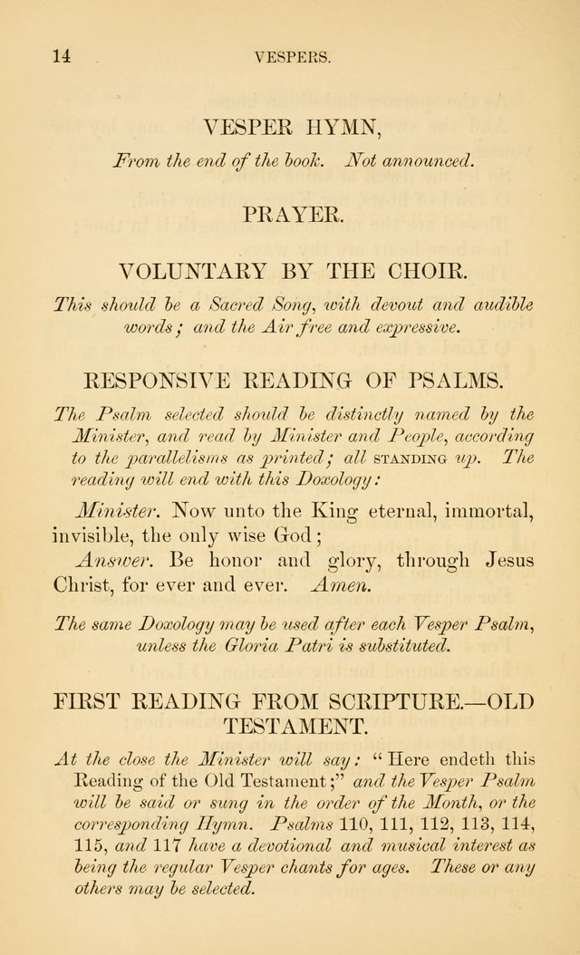 Book of vespers: an order of evening worship ; with select Psalms and hymns. page 21