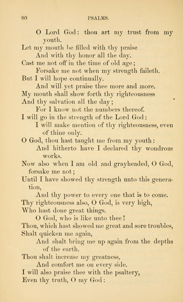 Book of vespers: an order of evening worship ; with select Psalms and hymns. page 87