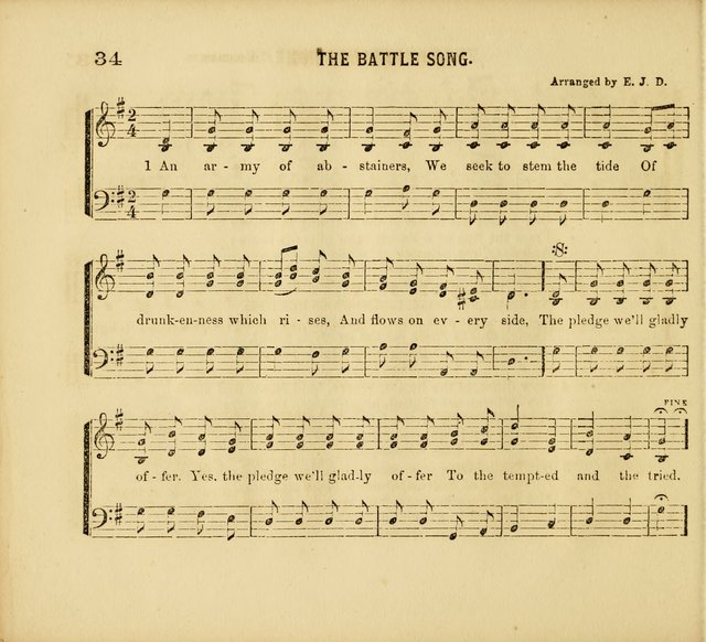 Band of Hope Melodies: adapted to Band of Hope, Cadet. and other temperance meetings. In two parts. page 35