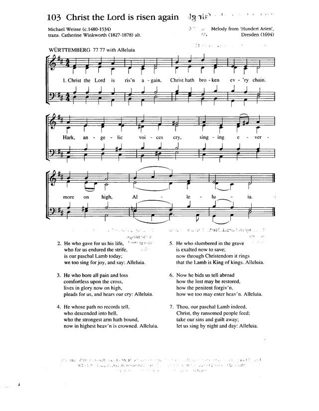 Christ the Lord is risen again! | Hymnary.org