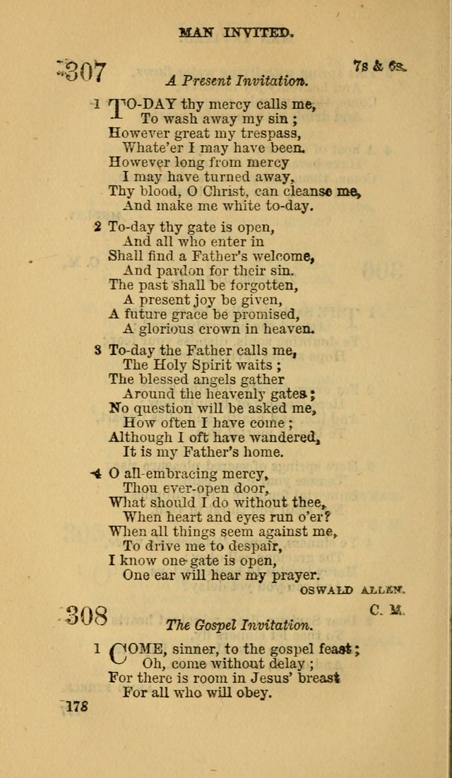 The Canadian Baptist Hymn Book page 178
