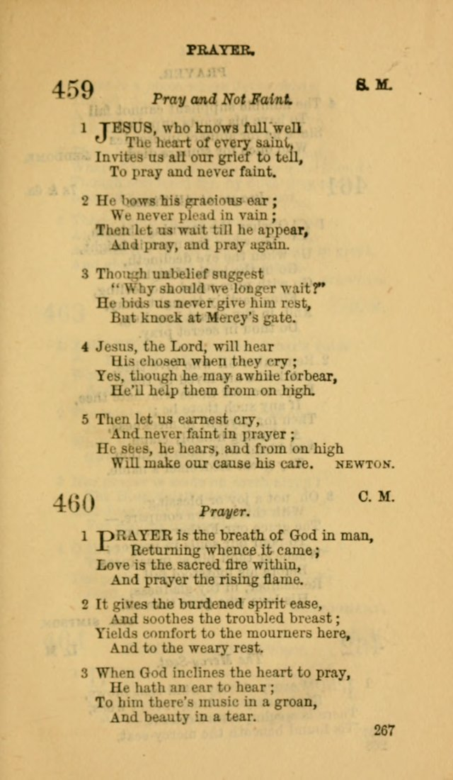 The Canadian Baptist Hymn Book page 267