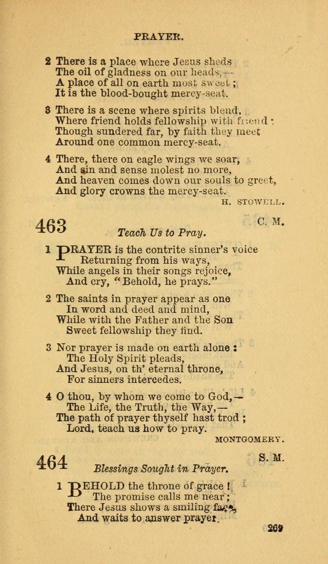 The Canadian Baptist Hymn Book page 269