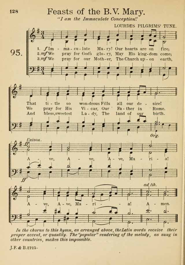 Catholic Church Hymnal with Music 95. Immaculate Mary! Our hearts ...