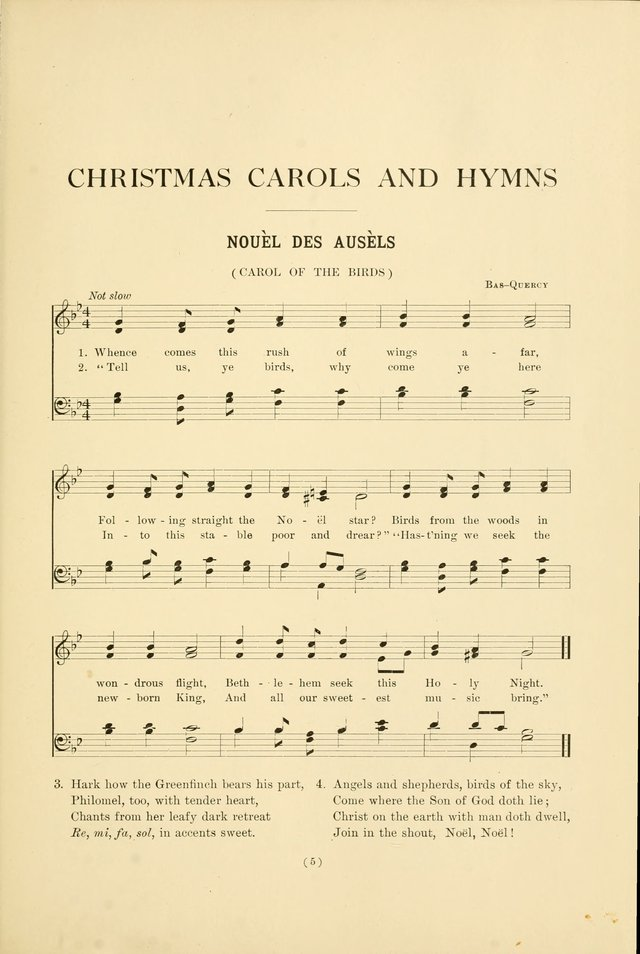 Christmas Carols and Hymns: for school and choir page 5