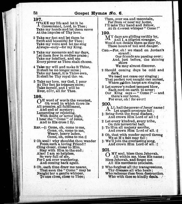 Christian Endeavor Edition of Gospel Hymns No. 6: Canadian ed. (words only) page 57