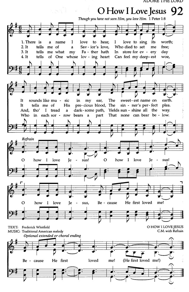The Celebration Hymnal: songs and hymns for worship page 107
