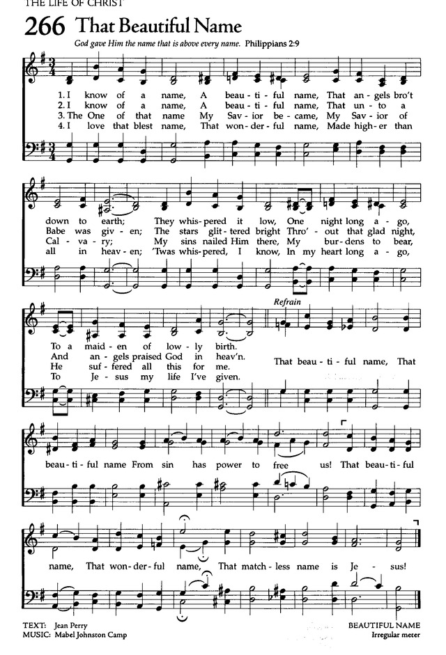 That Beautiful Name Hymnary