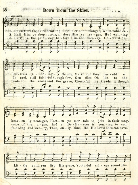 "Chapel Gems for Sunday Schools: selected from ""Our Song Birds,"" for 1866, The ""Snow Bird,"" the ""Robin,"" the ""Red Bird"" and the ""Dove"" page 68"