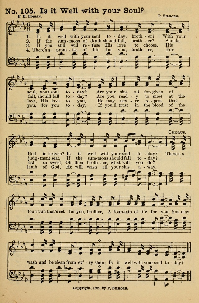 Crowning Glory No. 1: a choice collection of gospel hymns page 105