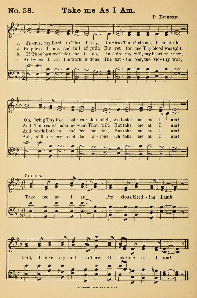 Crowning glory no. 2: a collection of gospel hymns page 45