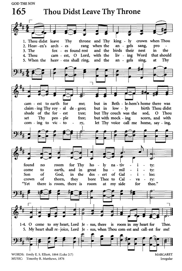 Thou didst leave thy throne   Hymnary.org