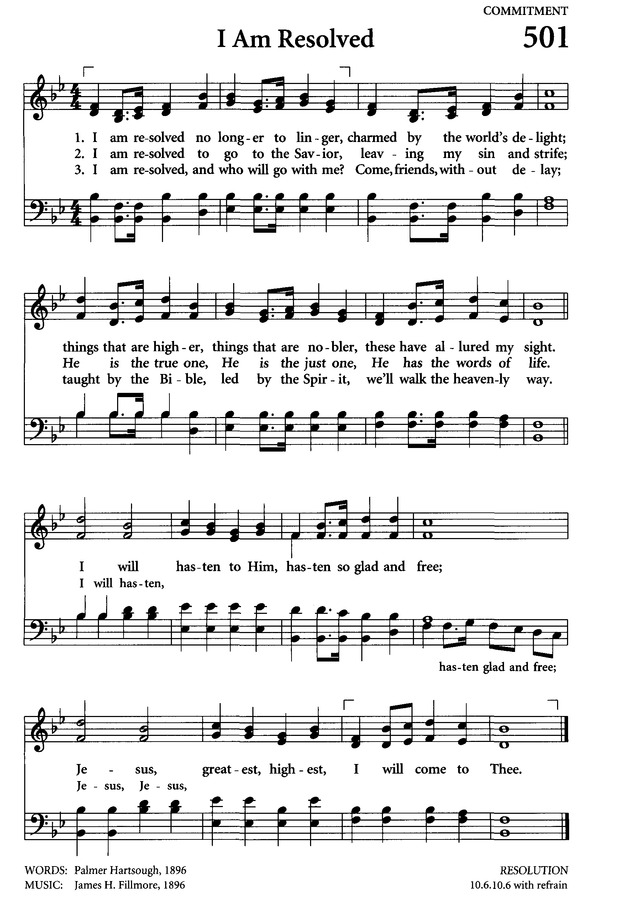 I Am Resolved | Hymnary.org