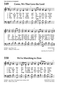 Come, ye that love the Lord | Hymnary org