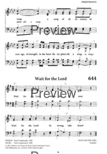 Wait for the Lord | Hymnary org