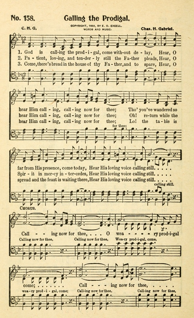 Christian Gospel Hymns: for church, Sunday school, and evangelistic meetings: contains the cream of all the old songs, and the very best of all the new page 168