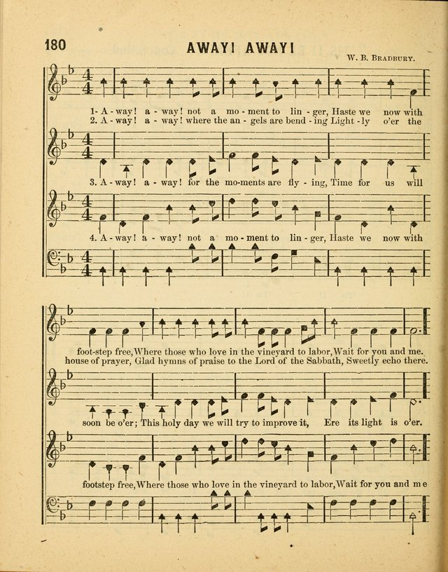 Crystal Gems for the Sabbath School: containing a choice collection of new hymns and tunes, suitable for anniversaries, and all other exercises of the Sabbath-school... page 180