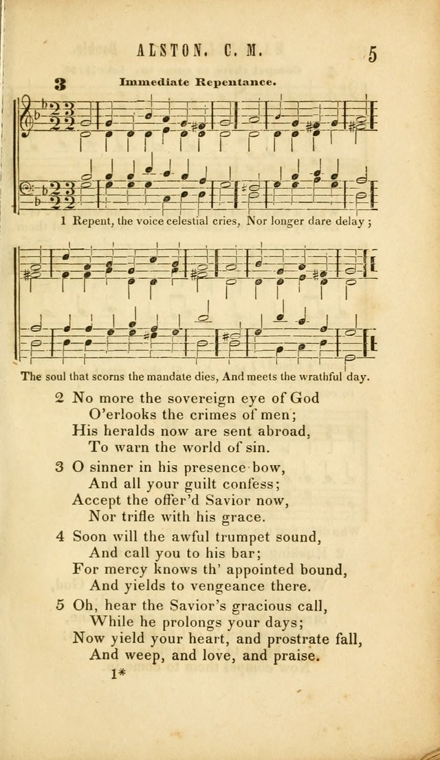 Chapel Hymns: a selection of hymns, with appropriate tunes; adapted to vestry or other social religious meetings page 5