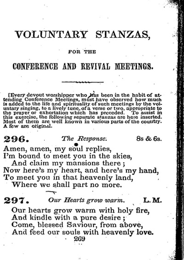 Conference Hymns. a new collection of hymns, designed especially for use in conference and prayer meetings, and family worship. page 283