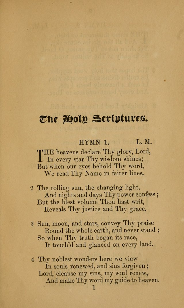 A Collection of Hymns page 1