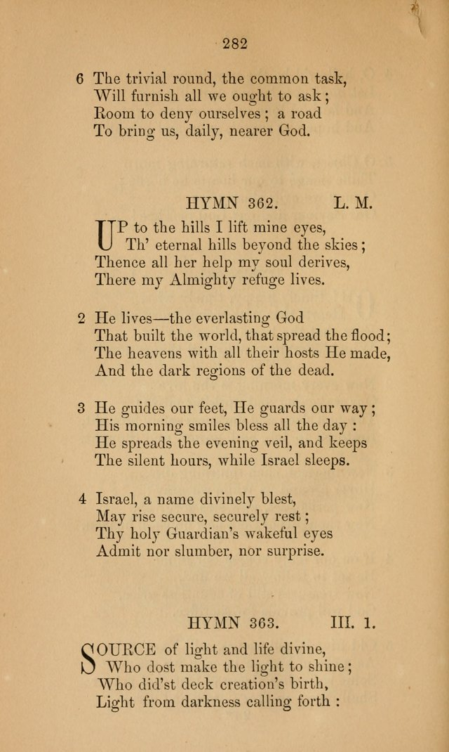 A Collection of Hymns page 282