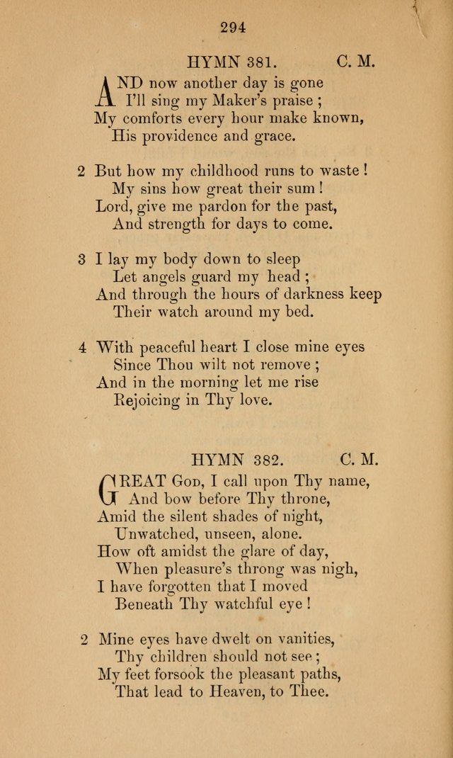 A Collection of Hymns page 294