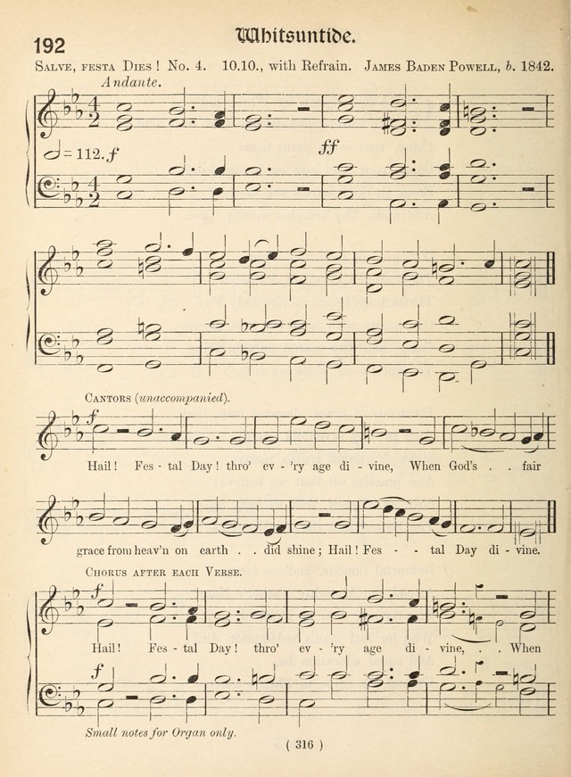 Church Hymns: with tunes (New ed.) page 316