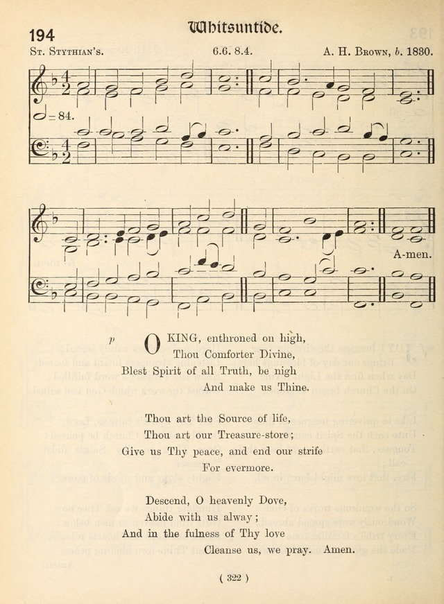 Church Hymns: with tunes (New ed.) page 322