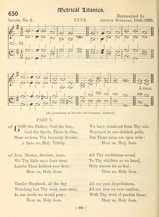 Church Hymns: with tunes (New ed.) page 990