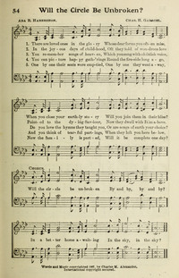 Will The Circle Be Unbroken Hymnary