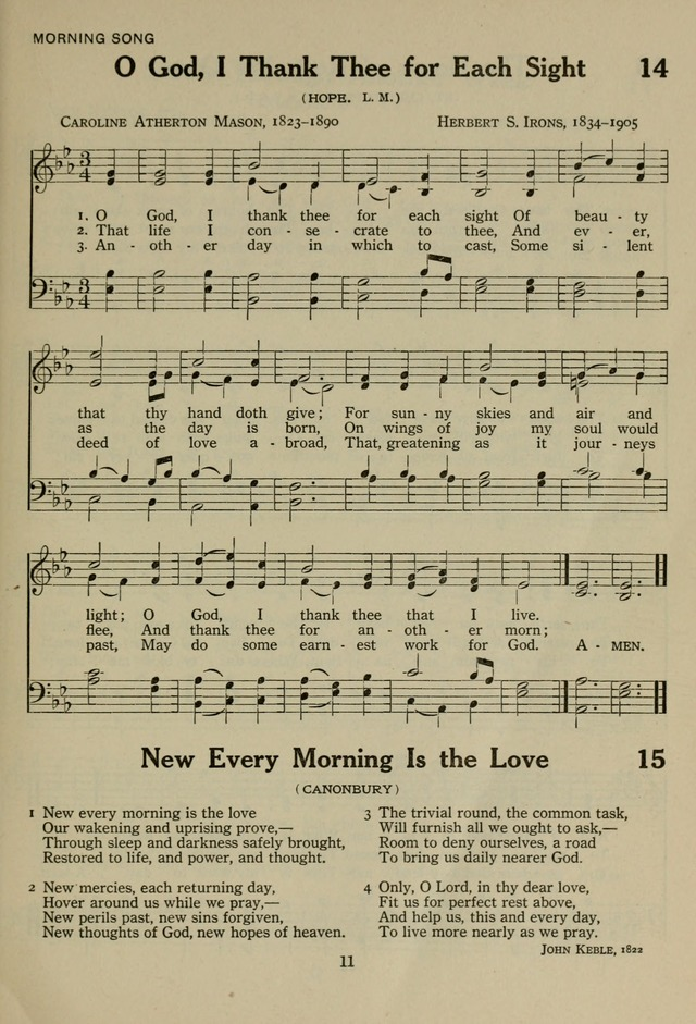 The Century Hymnal page 11