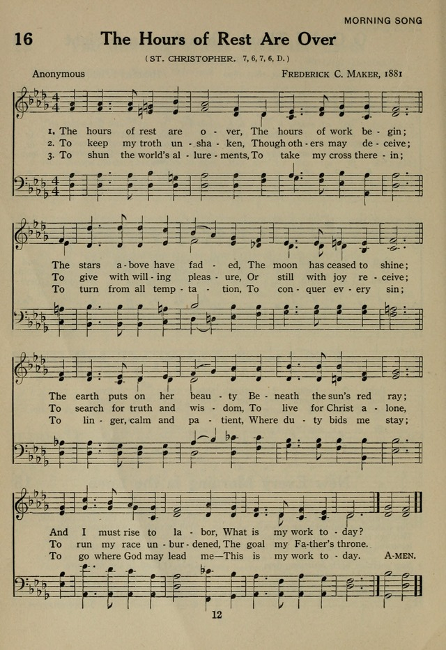 The Century Hymnal page 12