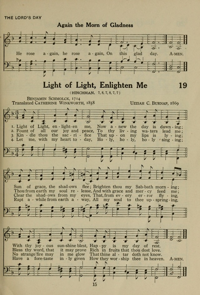 The Century Hymnal page 15