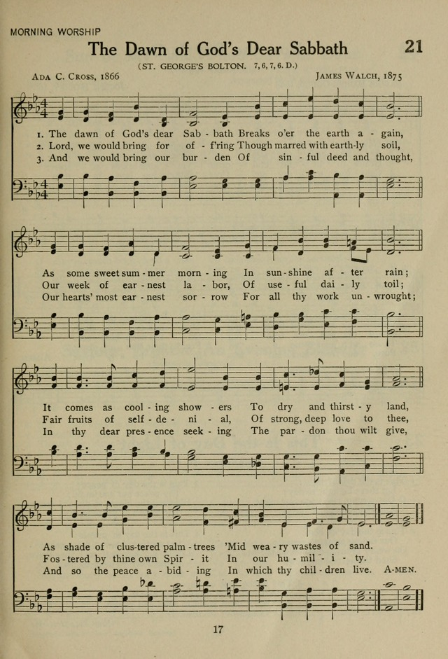 The Century Hymnal page 17