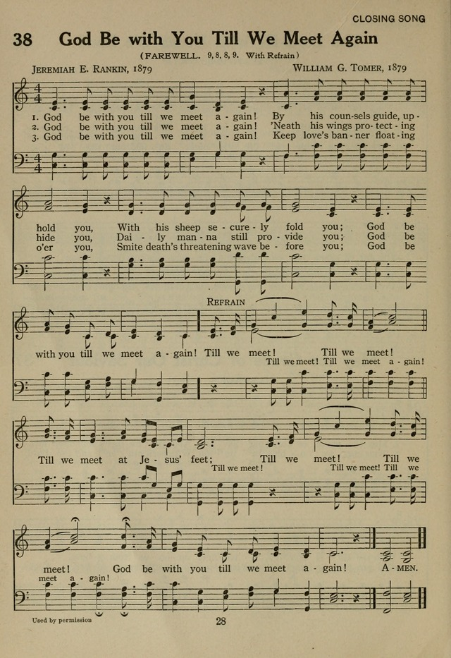 The Century Hymnal page 28