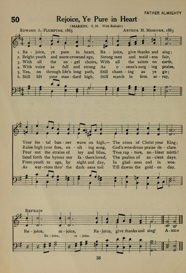 The Century Hymnal page 38