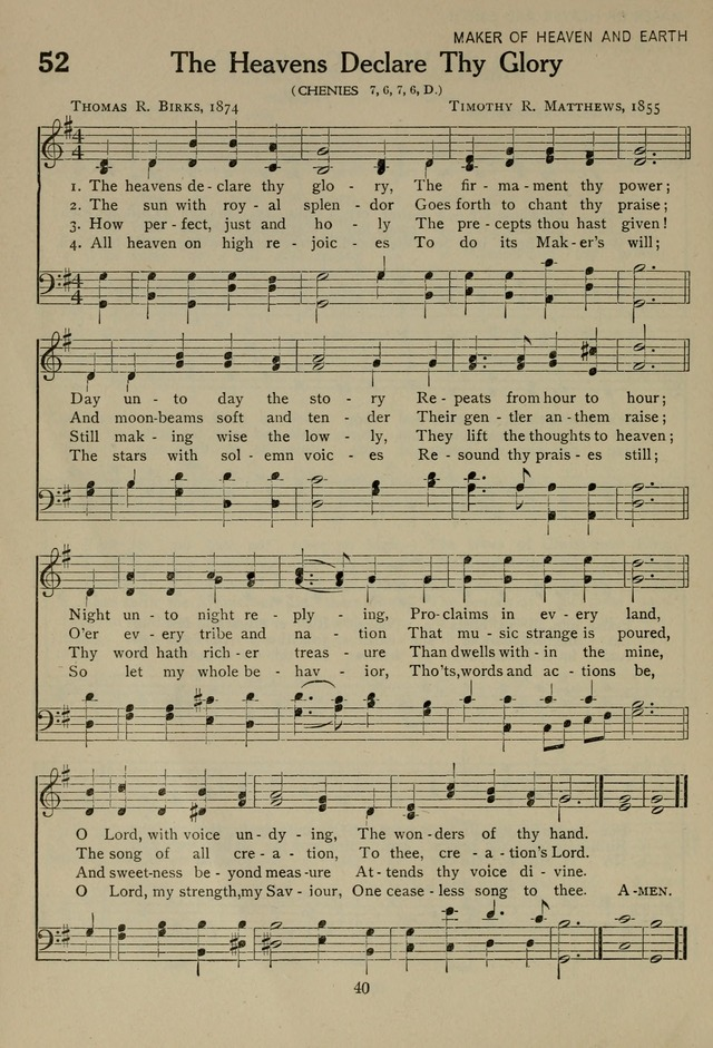 The Century Hymnal page 40