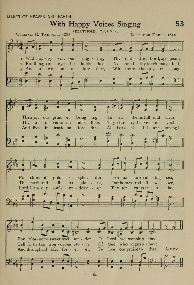 The Century Hymnal page 41