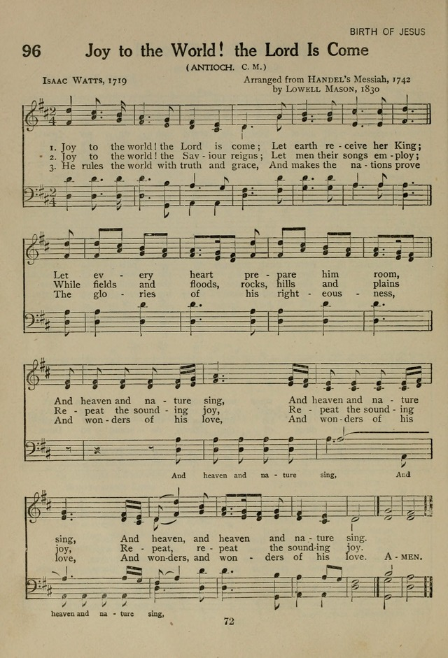 The Century Hymnal page 72