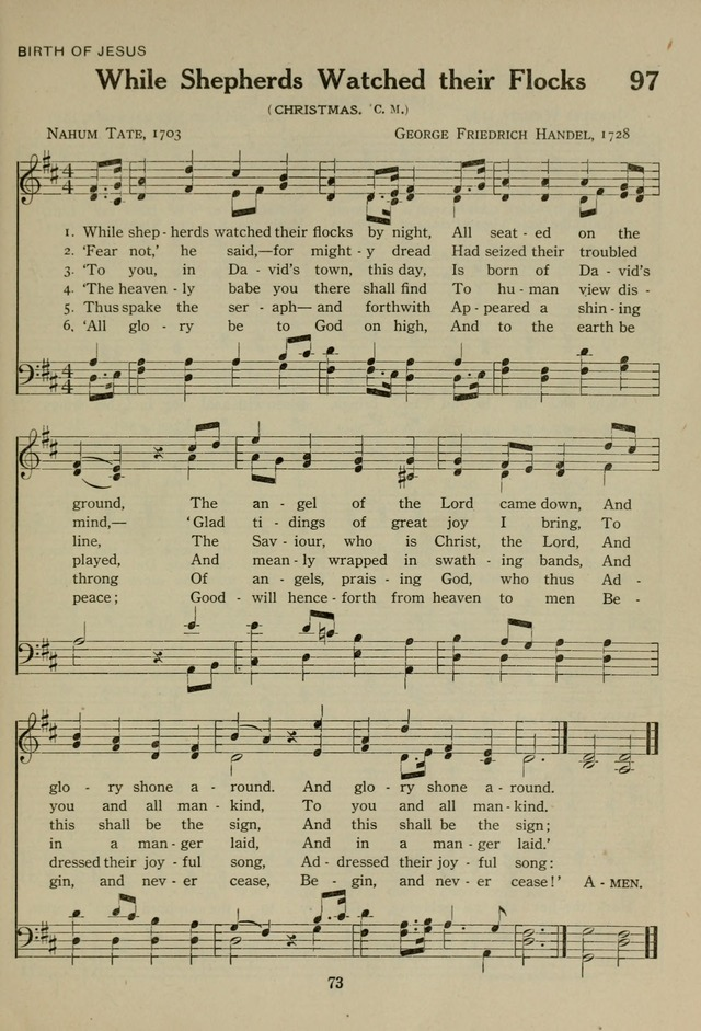 The Century Hymnal page 73