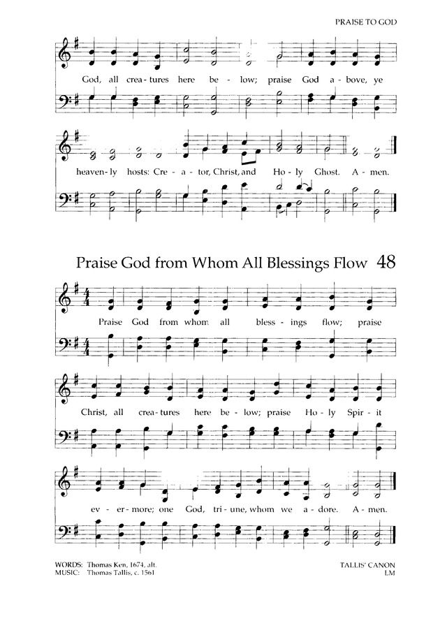Lyric praise god from whom all blessings flow lyrics : Chalice Hymnal 48. Praise God from whom all blessings flow ...
