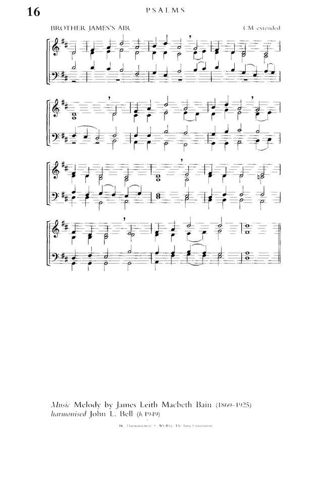 Church Hymnary (4th ed ) 16  The Lord's my shepherd, I'll