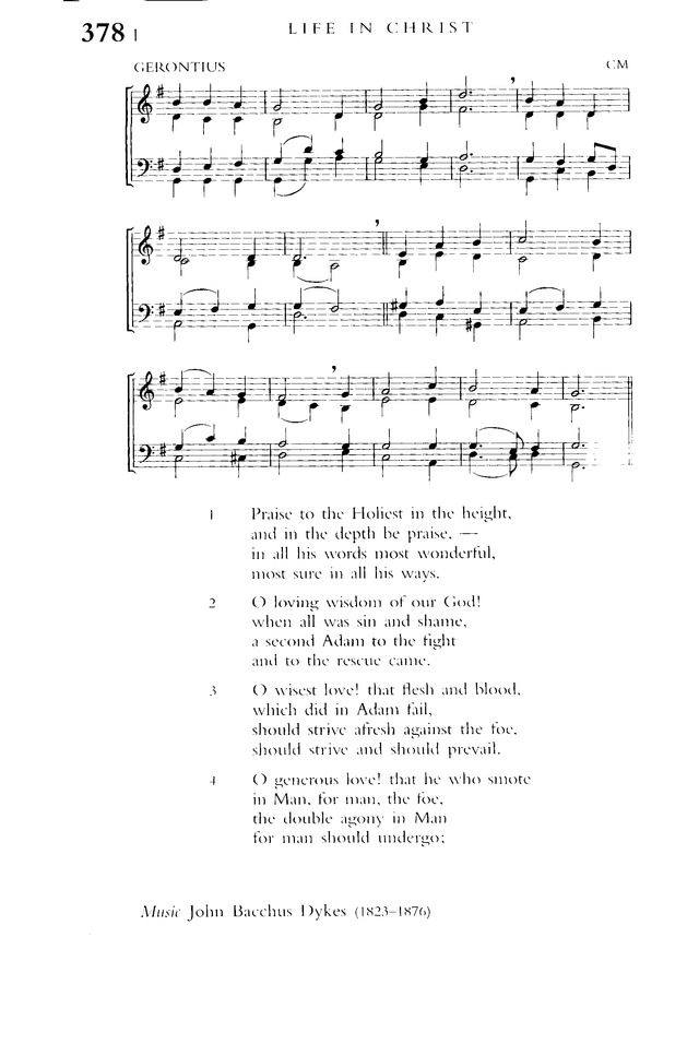 Praise To The Holiest In The Height Hymnary