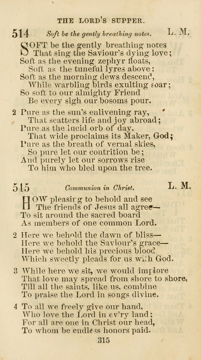 The Christian Hymn Book: a compilation of psalms, hymns and spiritual songs, original and selected (Rev. and enl.) page 324