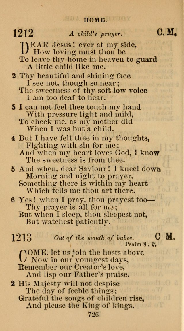 The Christian Hymn Book: a compilation of psalms, hymns and spiritual songs, original and selected (Rev. and enl.) page 735