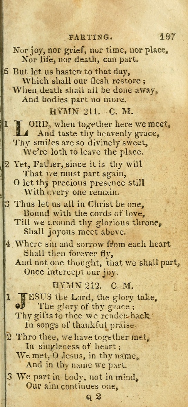 The Christian Hymn-Book (Corr. and Enl., 3rd. ed.) page 189
