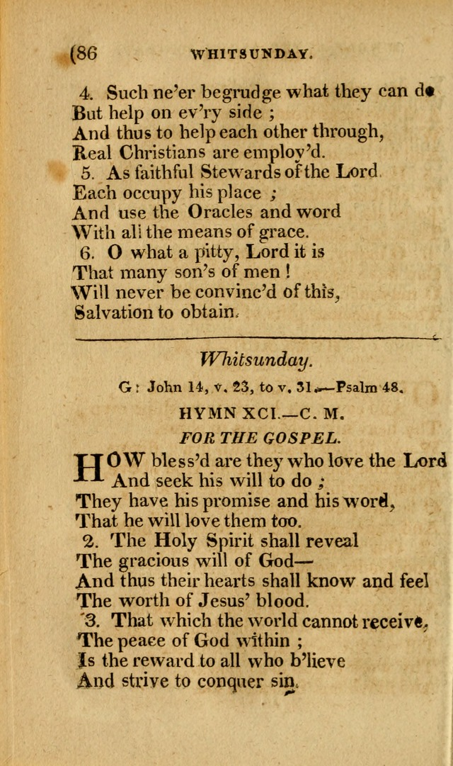 Church Hymn Book: consisting of newly composed hymns with the addition of hymns and psalms, from other authors, carefully adapted for the use of public worship, and many other occasions (1st ed.) page 105
