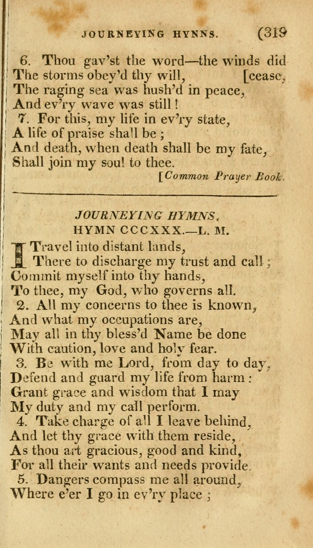 Church Hymn Book: consisting of newly composed hymns with the addition of hymns and psalms, from other authors, carefully adapted for the use of public worship, and many other occasions (1st ed.) page 338